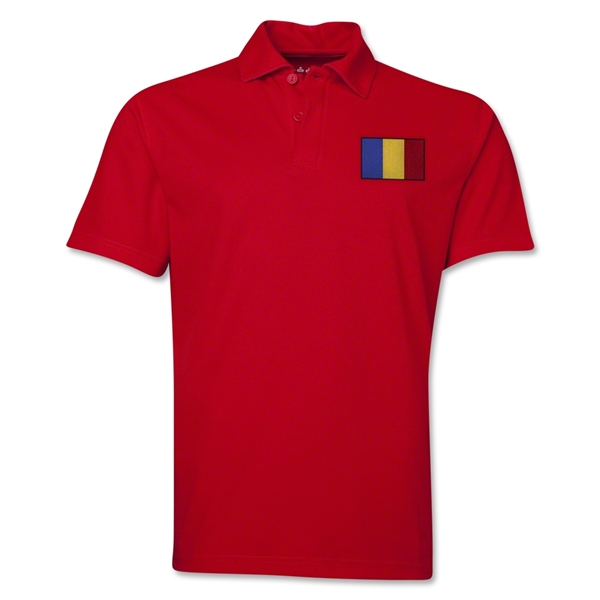 Romania Flag Soccer Polo (Red)