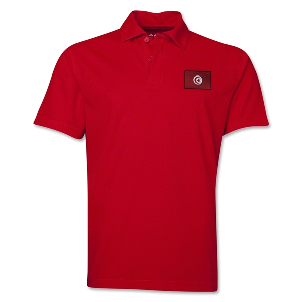 Tunisia Flag Soccer Polo (Red)