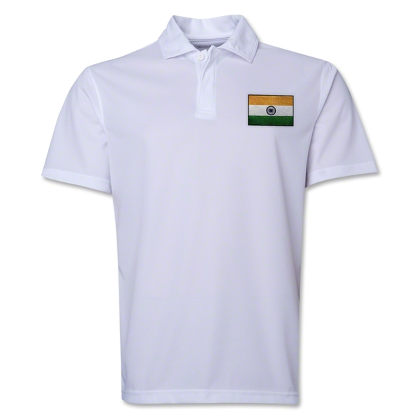 India Flag Soccer Polo (White)