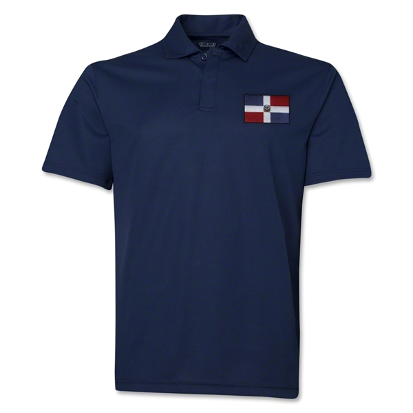 Dominican Republic Flag Soccer Polo (Navy)