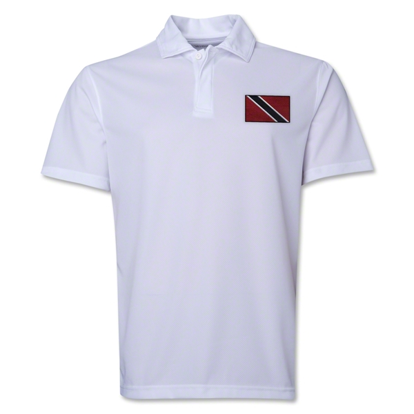 Trinidad & Tobago Flag Soccer Polo (White)