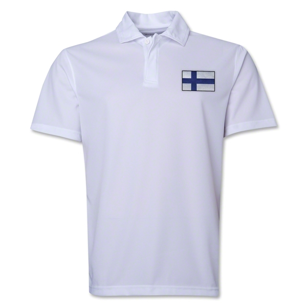 Finland Flag Soccer Polo (White)