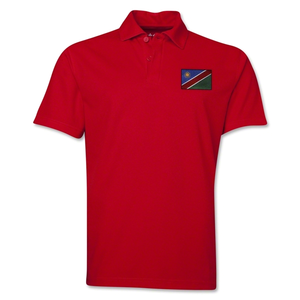 Namibia Flag Soccer Polo (Red)
