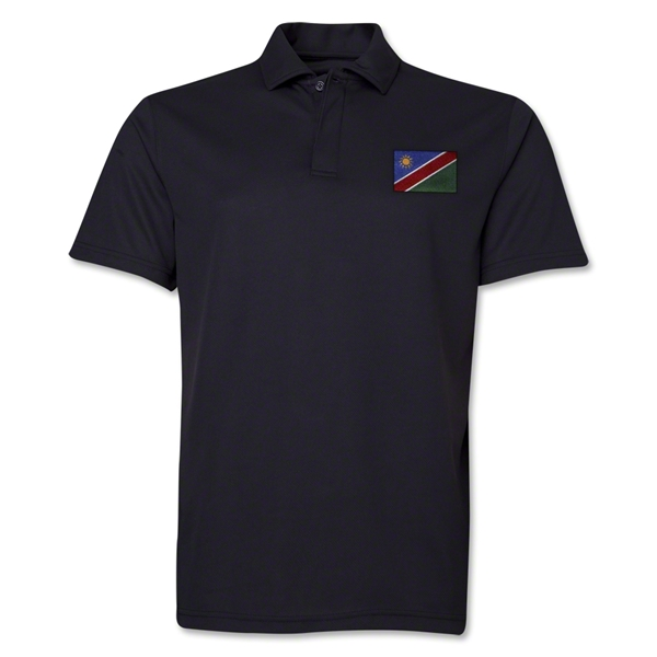 Namibia Flag Soccer Polo (Black)