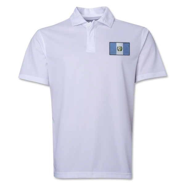 Guatemala Flag Soccer Polo (White)