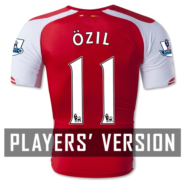 Arsenal 14/15 OZIL Authentic Home Soccer Jersey