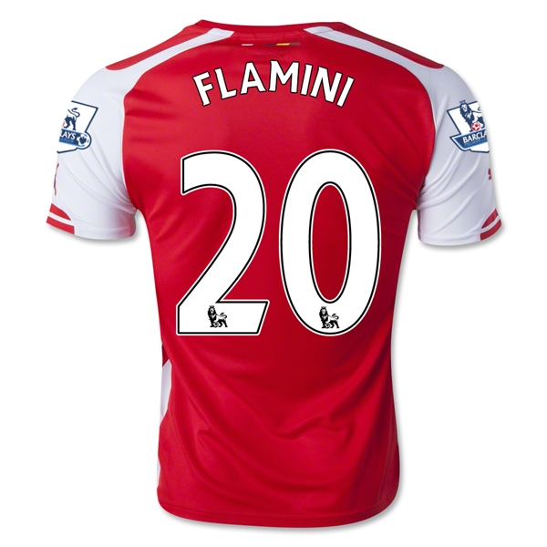 Arsenal 14/15 FLAMINI Home Soccer Jersey