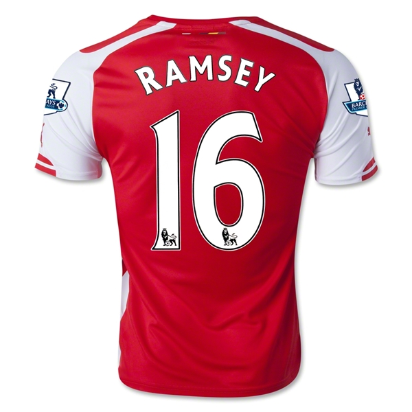 Arsenal 14/15 RAMSEY Home Soccer Jersey