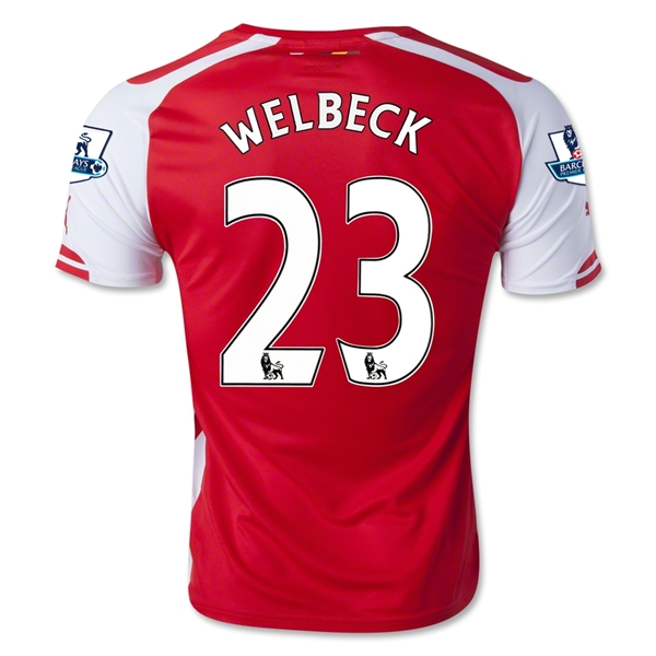 Arsenal 14/15 WELBECK Home Soccer Jersey