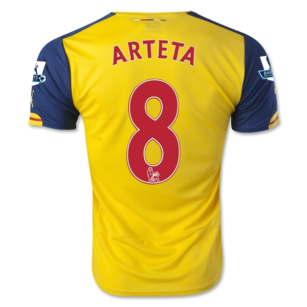 Arsenal 14/15 ARTETA Away Soccer Jersey
