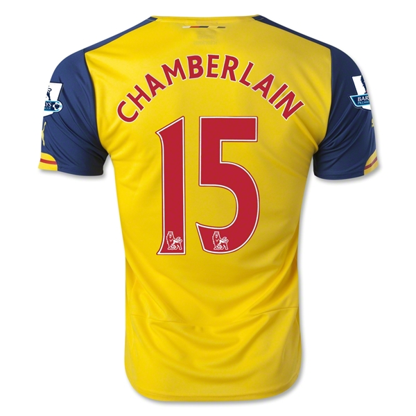 Arsenal 14/15 CHAMBERLAIN Away Soccer Jersey