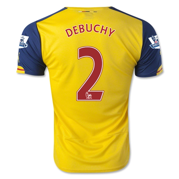 Arsenal 14/15 DEBUCHY Away Soccer Jersey