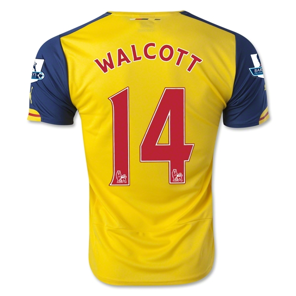 Arsenal 14/15 WALCOTT Away Soccer Jersey