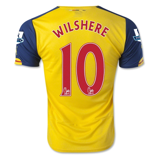 Arsenal 14/15 WILSHERE Away Soccer Jersey
