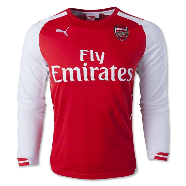 Arsenal 14/15 LS Home Soccer Jersey