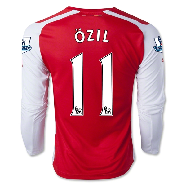 Arsenal 14/15 OZIL LS Home Soccer Jersey