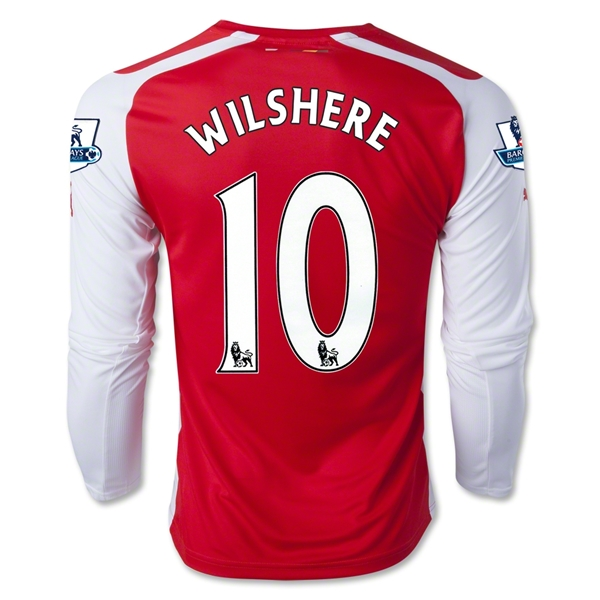 Arsenal 14/15 WILSHERE LS Home Soccer Jersey