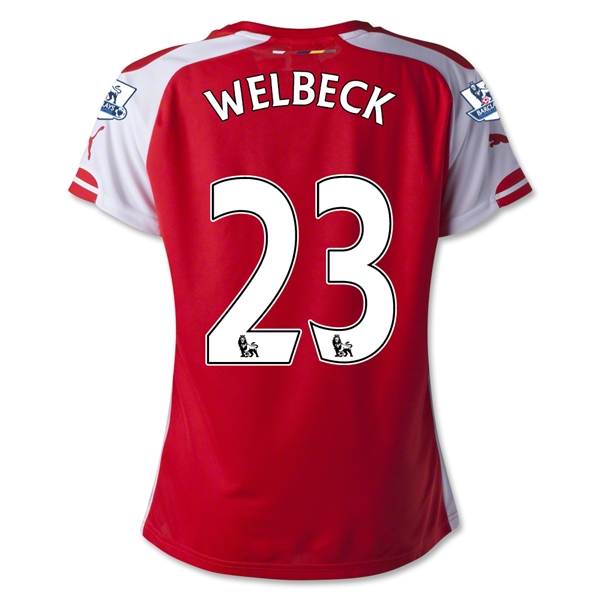 Arsenal 14/15 WELBECK Women's Home Soccer Jersey