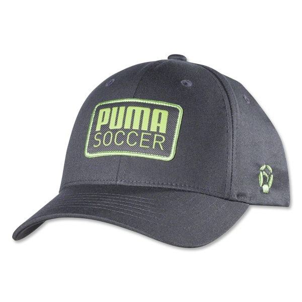 PUMA Striker Stretch Fit Cap (Gray/Green)