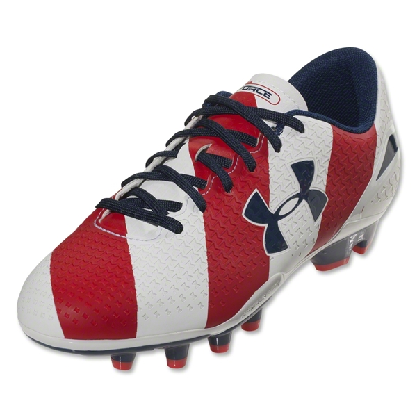 Under Armour Speed Force FG Junior (USA Red/White/Blue)