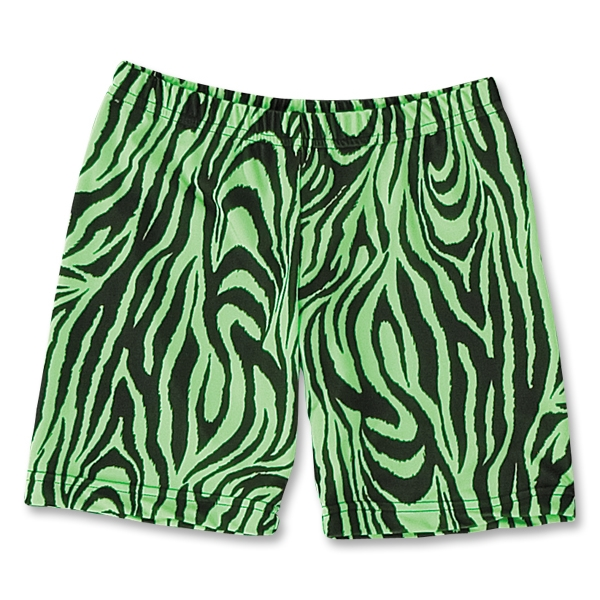 Green Zebra 6 Compression Short (Neon Green)