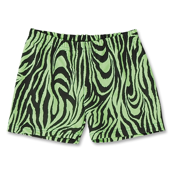 Green Zebra 4 Compression Short (Neon Green)