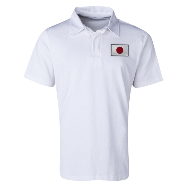 Japan Flag Retro Rugby Jersey (White)