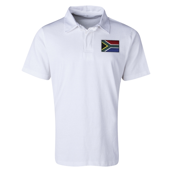 South Africa Flag Retro Rugby Jersey (White)