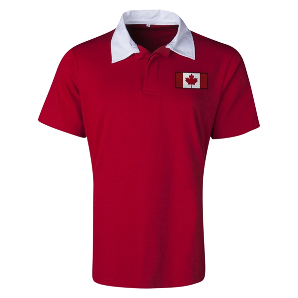Canada Flag Retro Rugby Jersey (Red)