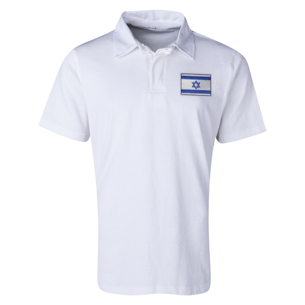 Israel Flag Retro Rugby Jersey (White)
