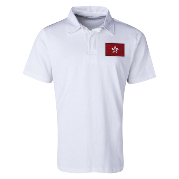 Hong Kong Flag Retro Rugby Jersey (White)