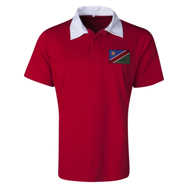 Namibia Flag Retro Rugby Jersey (Red)