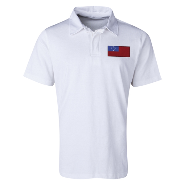 Samoa Flag Retro Rugby Jersey (White)