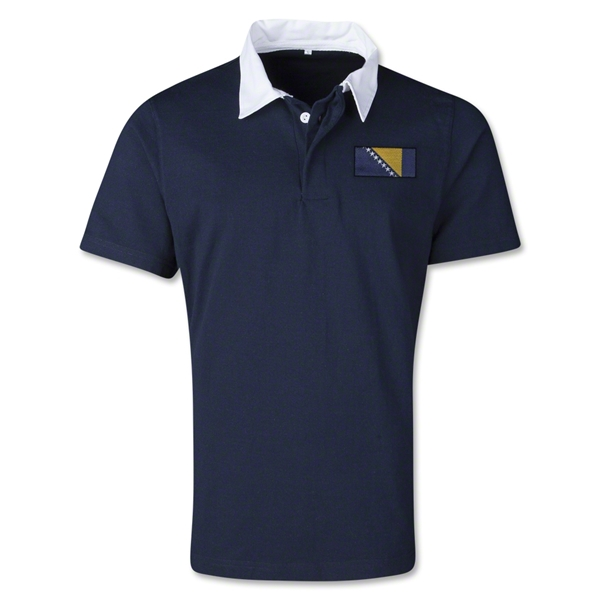 Bosnia-Herzegovina Retro Flag Shirt (Navy)