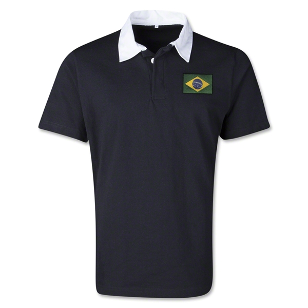 Brazil Retro Flag Shirt (Black)