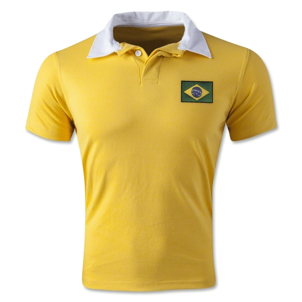 Brazil Retro Flag Shirt (Yellow)