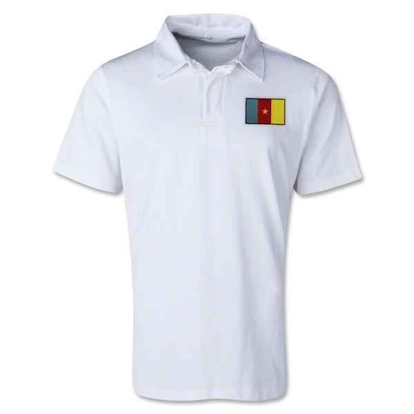 Cameroon Retro Flag Shirt (White)