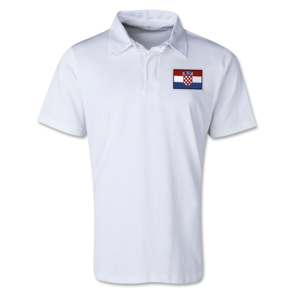 Croatia Retro Flag Shirt (White)