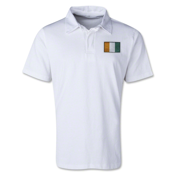 Cote d'Ivoire Retro Flag Shirt (White)