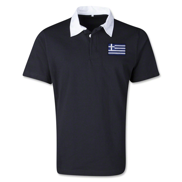 Greece Retro Flag Shirt (Black)