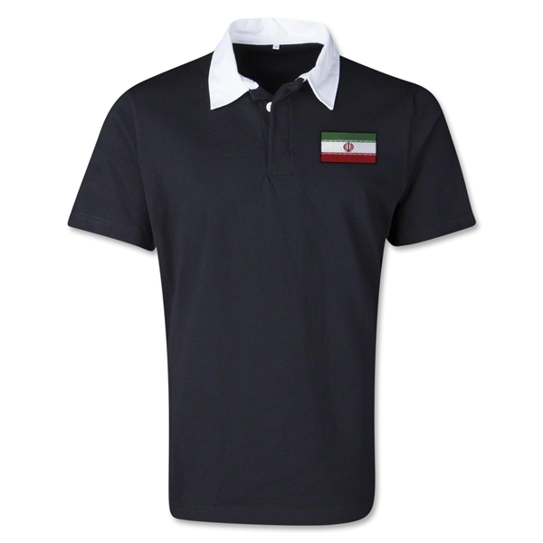 Iran Retro Flag Shirt (Black)