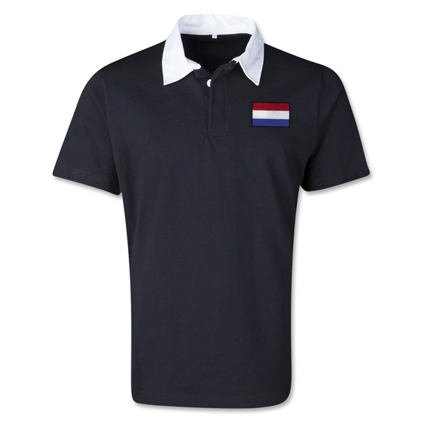 Netherlands Retro Flag Shirt (Black)