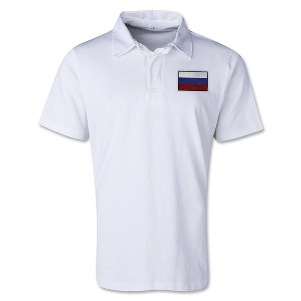 Russia Retro Flag Shirt (White)