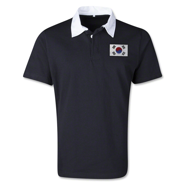 South Korea Retro Flag Shirt (Black)