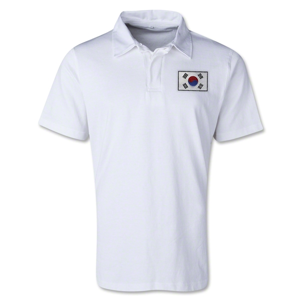 South Korea Retro Flag Shirt (White)