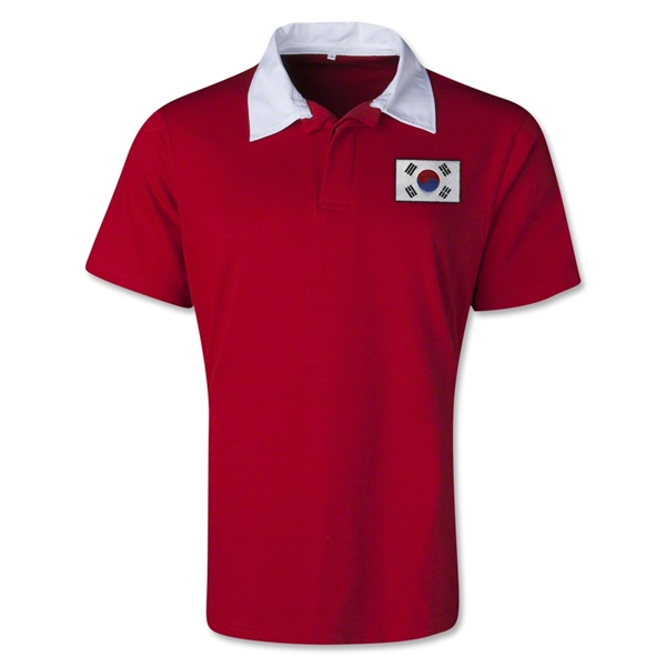 South Korea Retro Flag Shirt (Red)