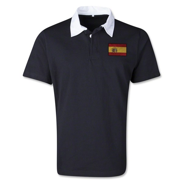 Spain Retro Flag Shirt (Black)