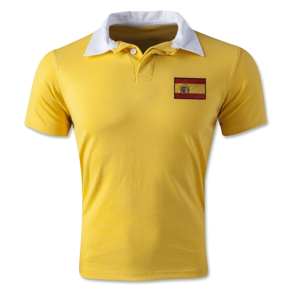 Spain Retro Flag Shirt (Yellow)