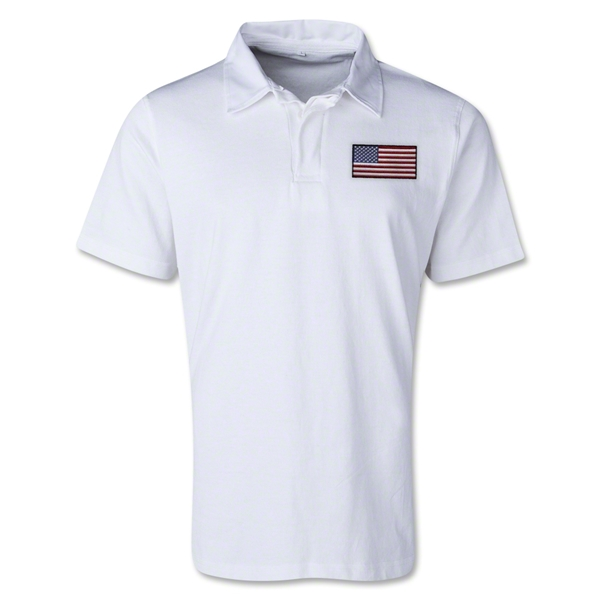 USA Retro Flag Shirt (White)