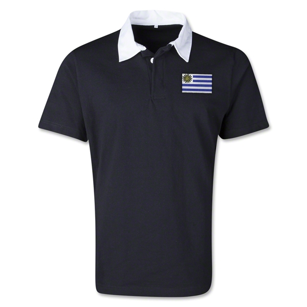 Uruguay Retro Flag Shirt (Black)